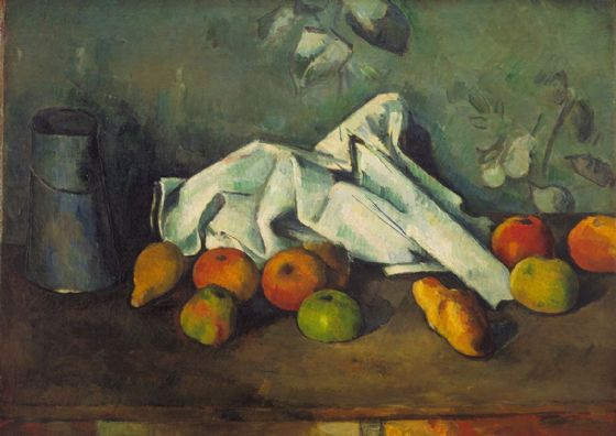 Cezanne, Paul: Milk Can and Apples. Fine Art Print/Poster. Sizes: A4/A3/A2/A1 (004219)